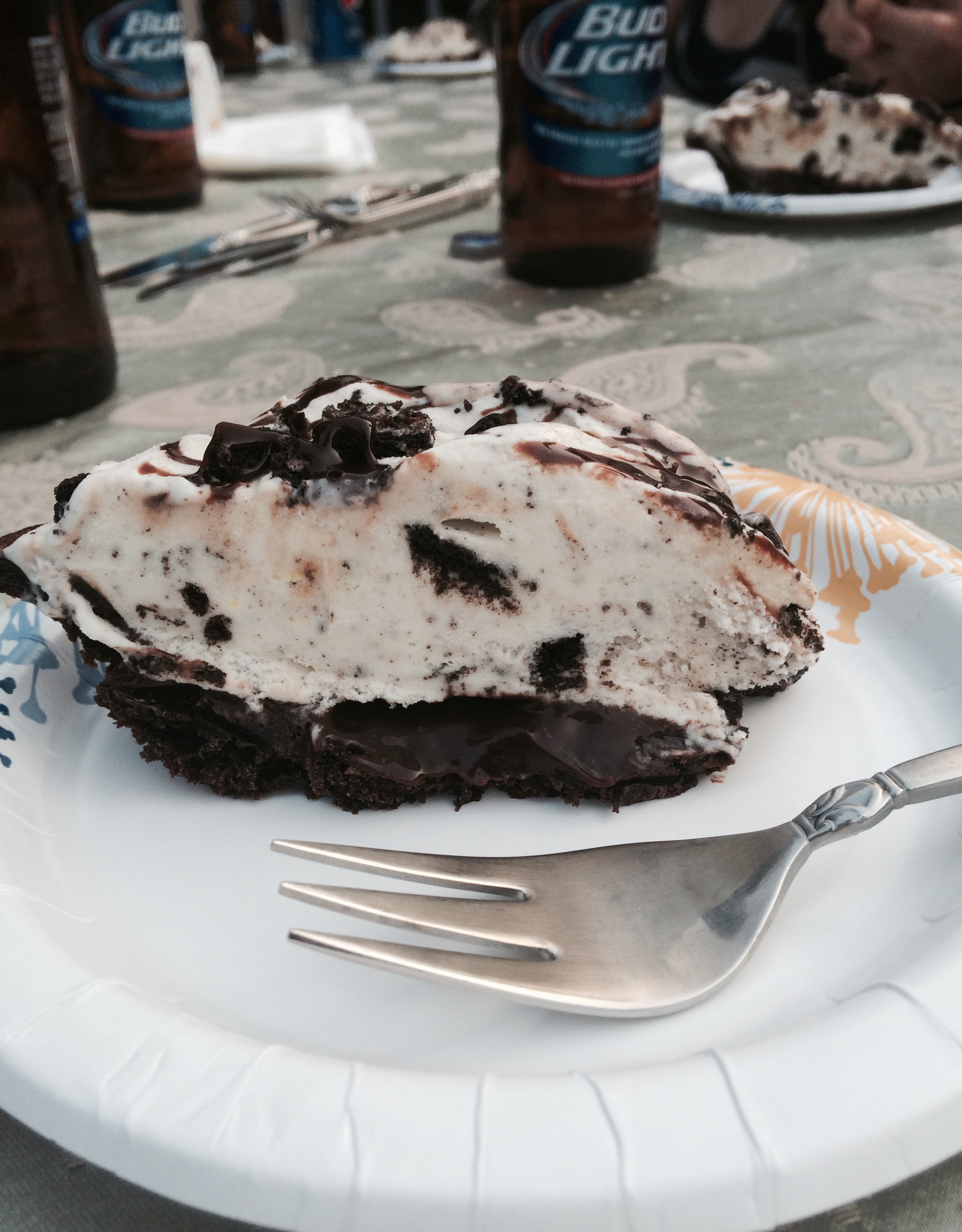 Here is a look inside the ice cream pie. So good.
