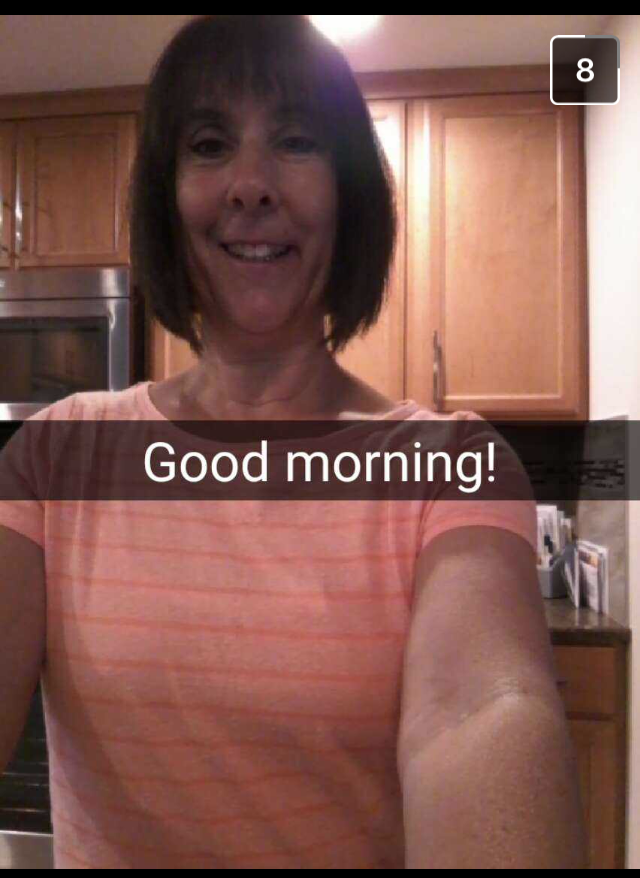 A great way to start your day is with a Snap from your mom.