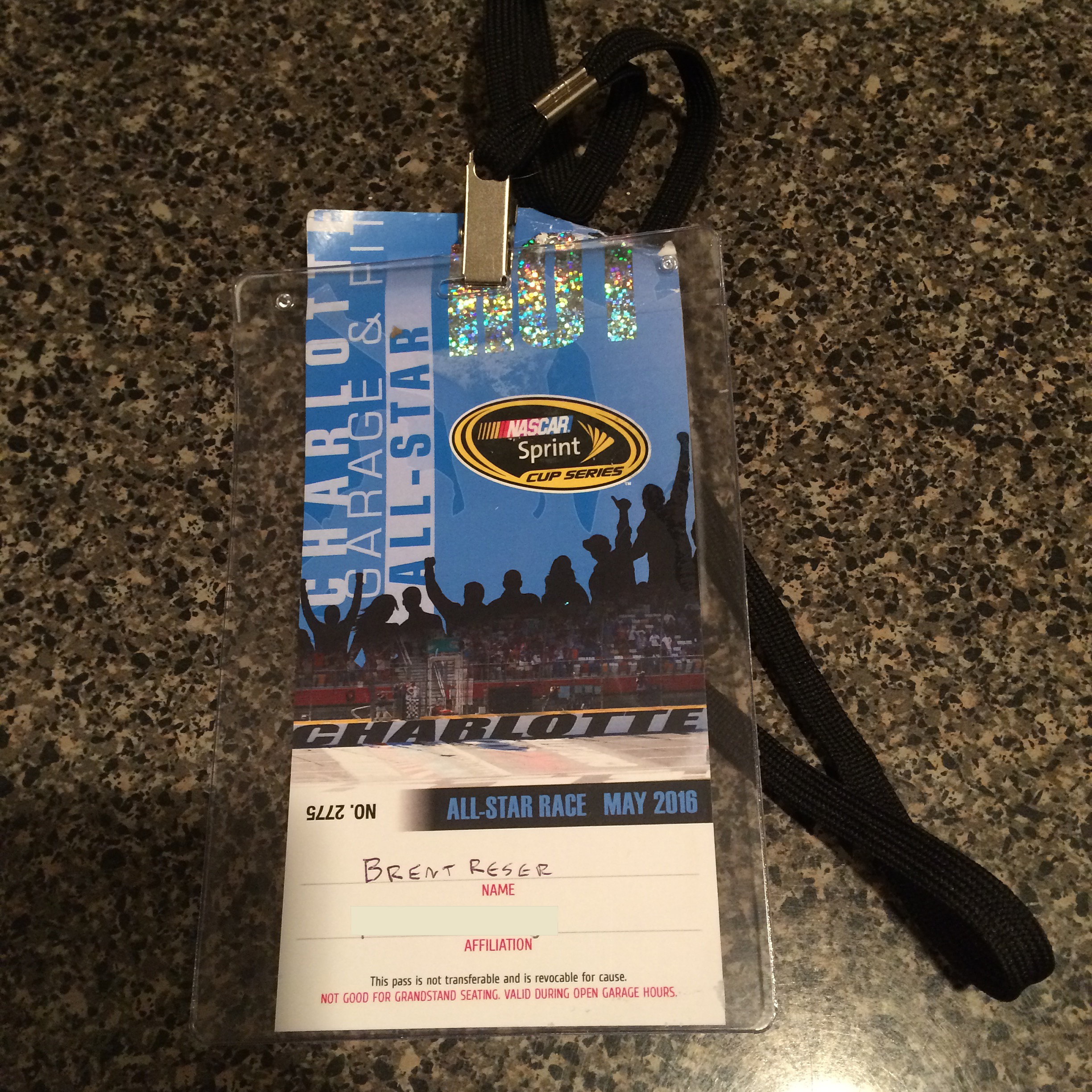 My credential from last Friday.