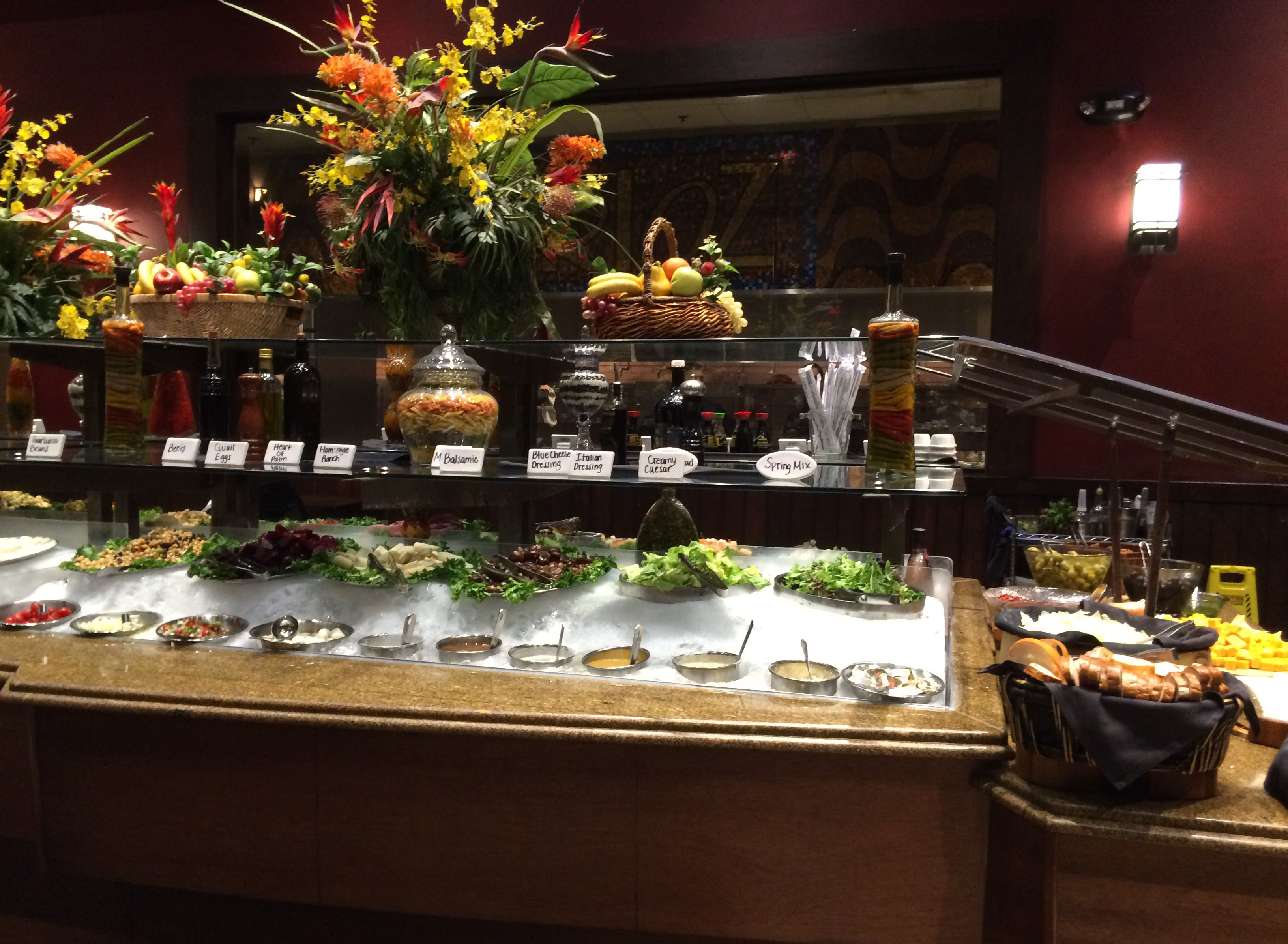 The salad bar at Rioz is extremely impressive.