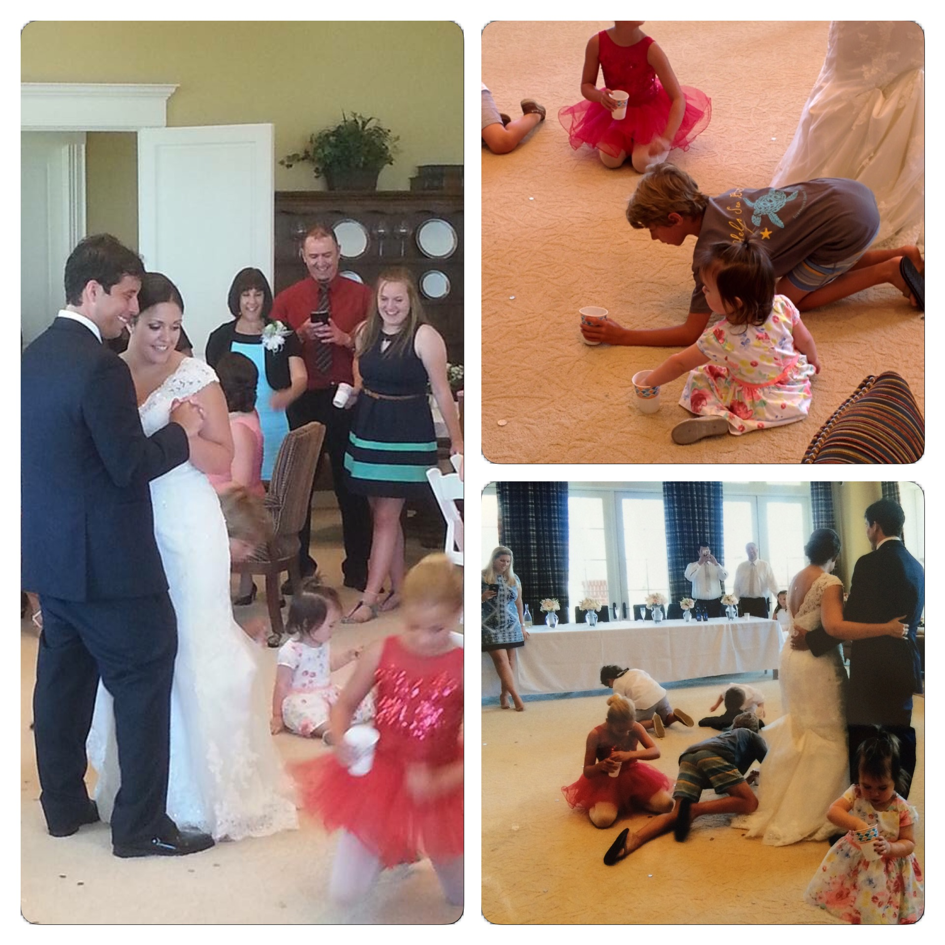 The coin dance is fun for both the kids and the newlyweds.