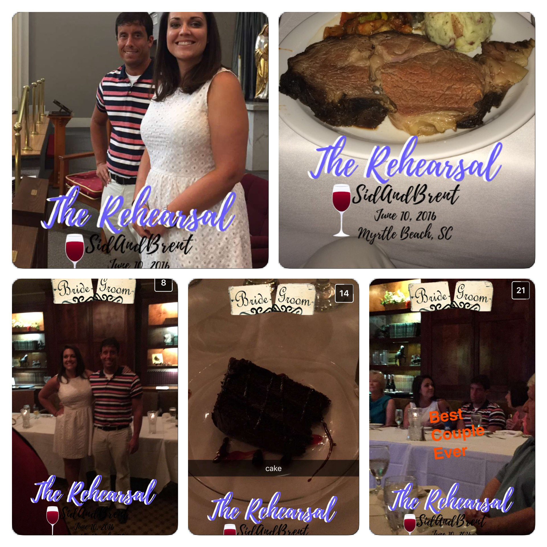 A look at how different people used our geofilter at the rehearsal dinner.