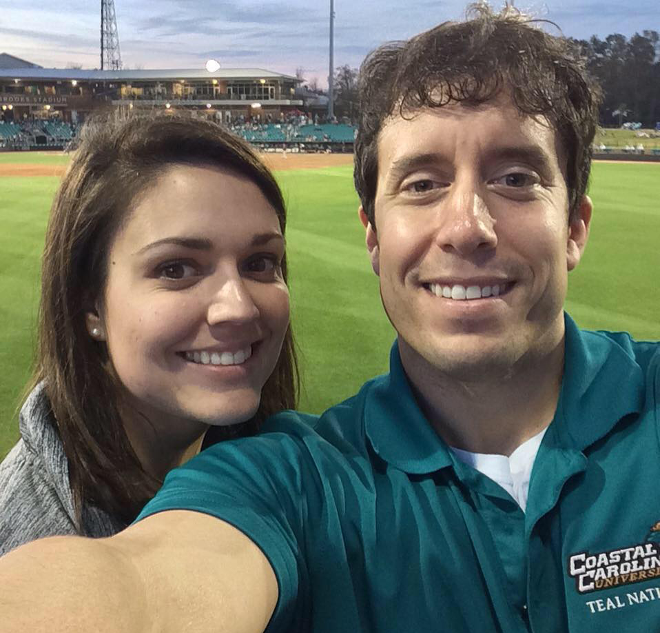 Sidney and I at a Coastal Carolina baseball game this season.
