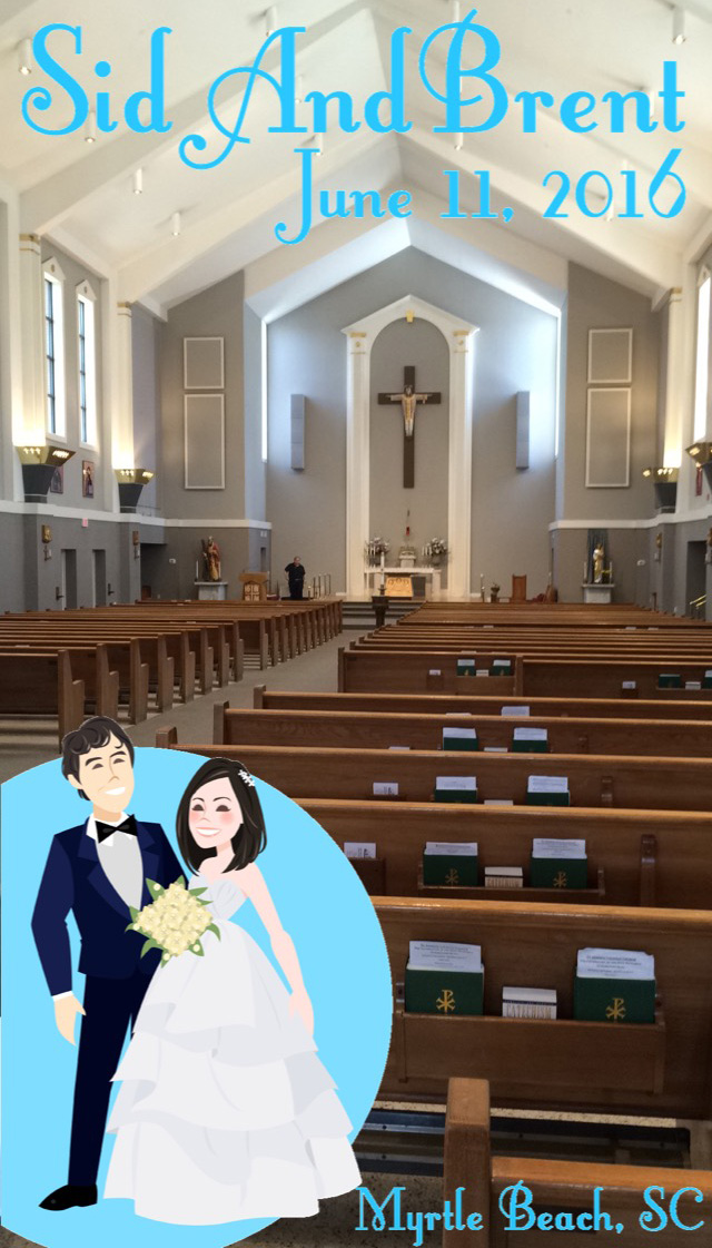 Right when I got in St. Andrew Catholic Church I tested out our own special geofilter. It worked!