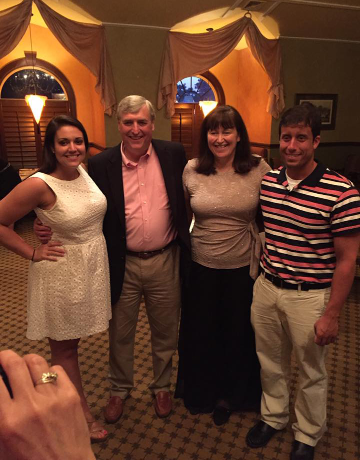 Sidney and I with Tim and Kathy McCormick at our rehearsal dinner. Tim gave a great blessing.
