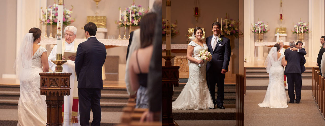 Some shots from the ceremony, including our glamour shot up at the altar.