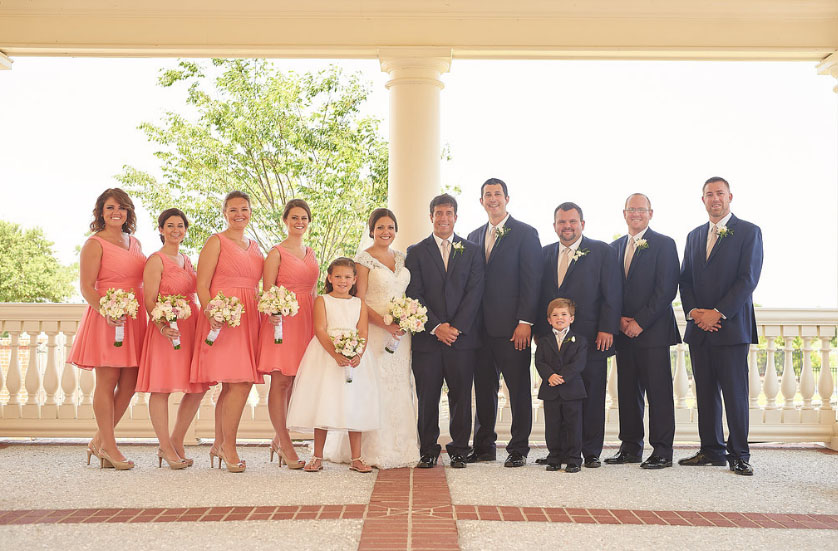 This was our wedding party (photo courtesy of Nicholas Gore Weddings Photography).