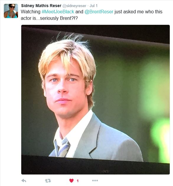 Sidney tweeted this out when I asked her who this actor was.