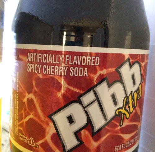 "I just thought Pibb Xtra was ""Pibb Xtra"" and not spicy cherry."