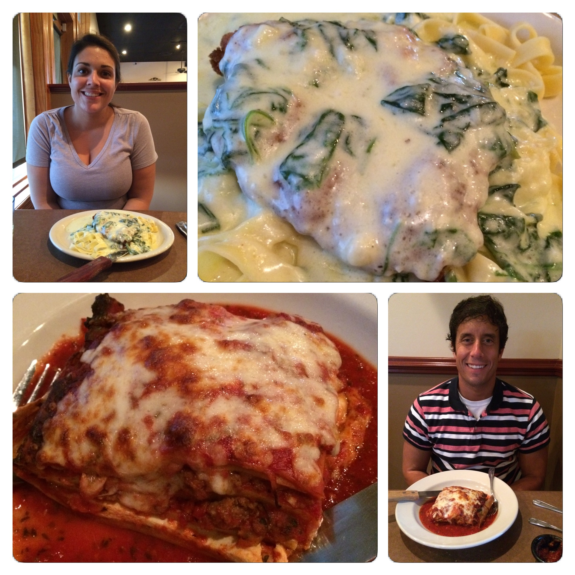 Sidney and I ate dinner at an Italian restaurant called Maggi D's on Friday night.