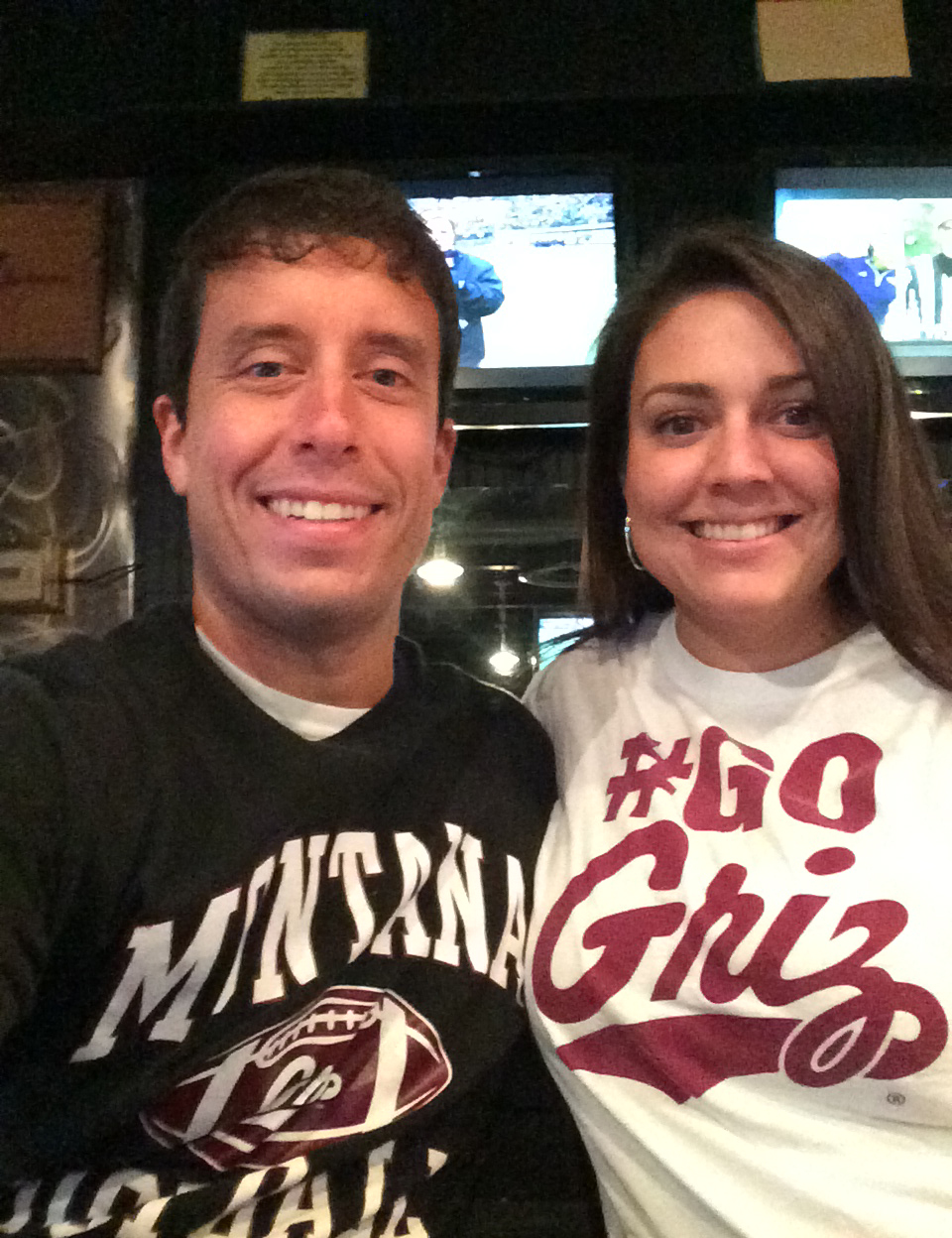 This is Sidney and I at in 2014 when we went to Remedies to watch the Montana football team play.