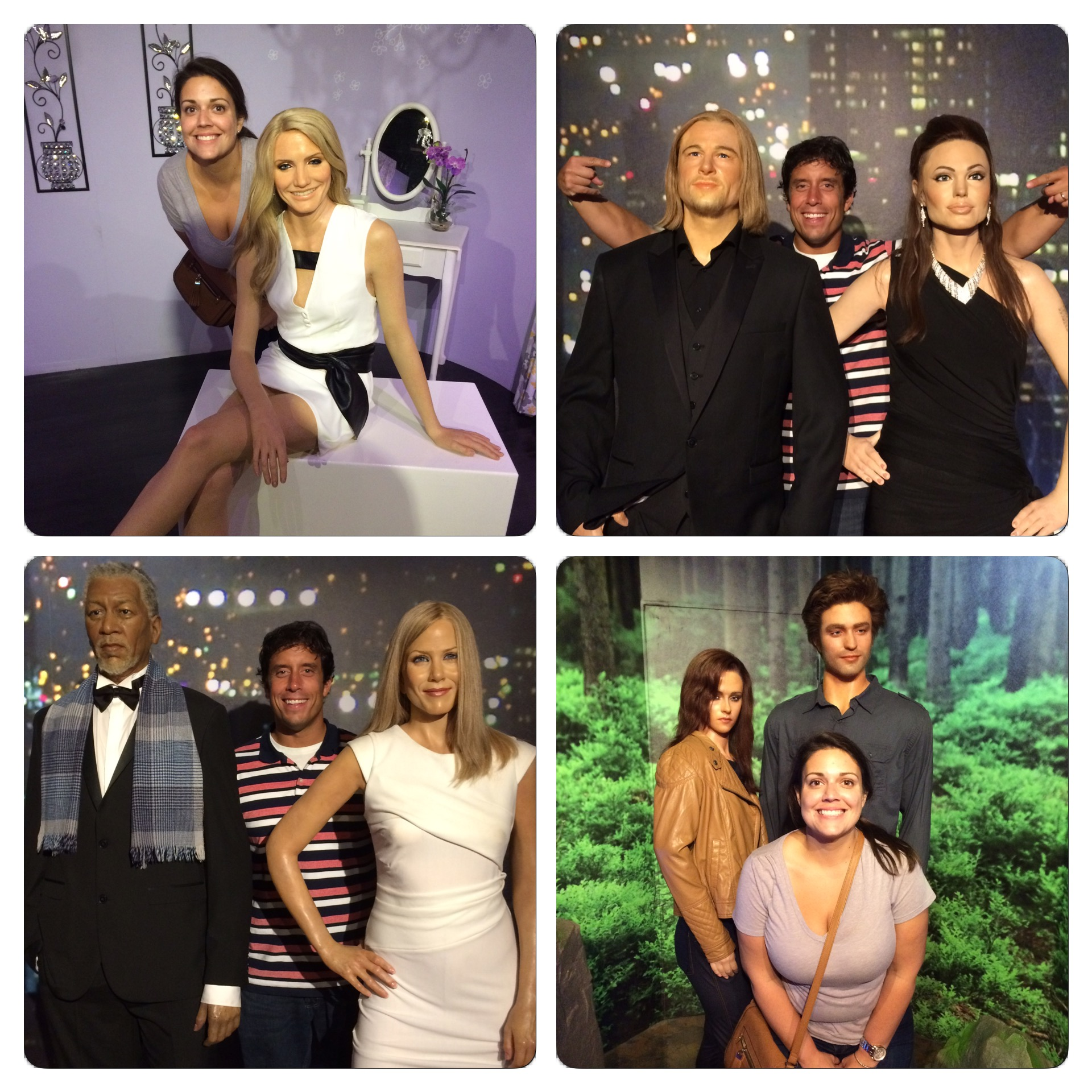 The Hollywood Wax Museum is filled with replicas of famous celebrities.