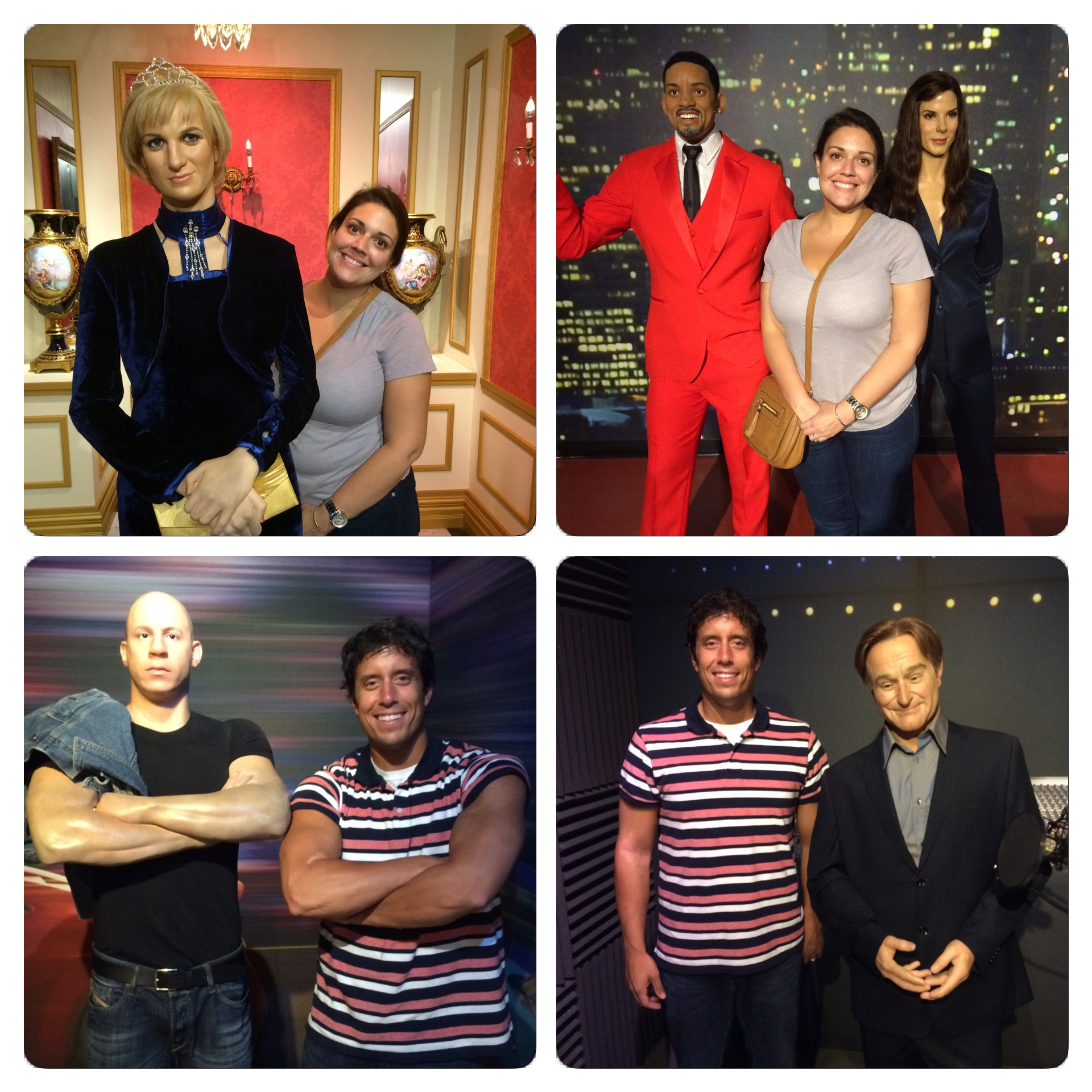 Some of the wax figures depicted certain celebrities right on while others were a little bit of a stretch.