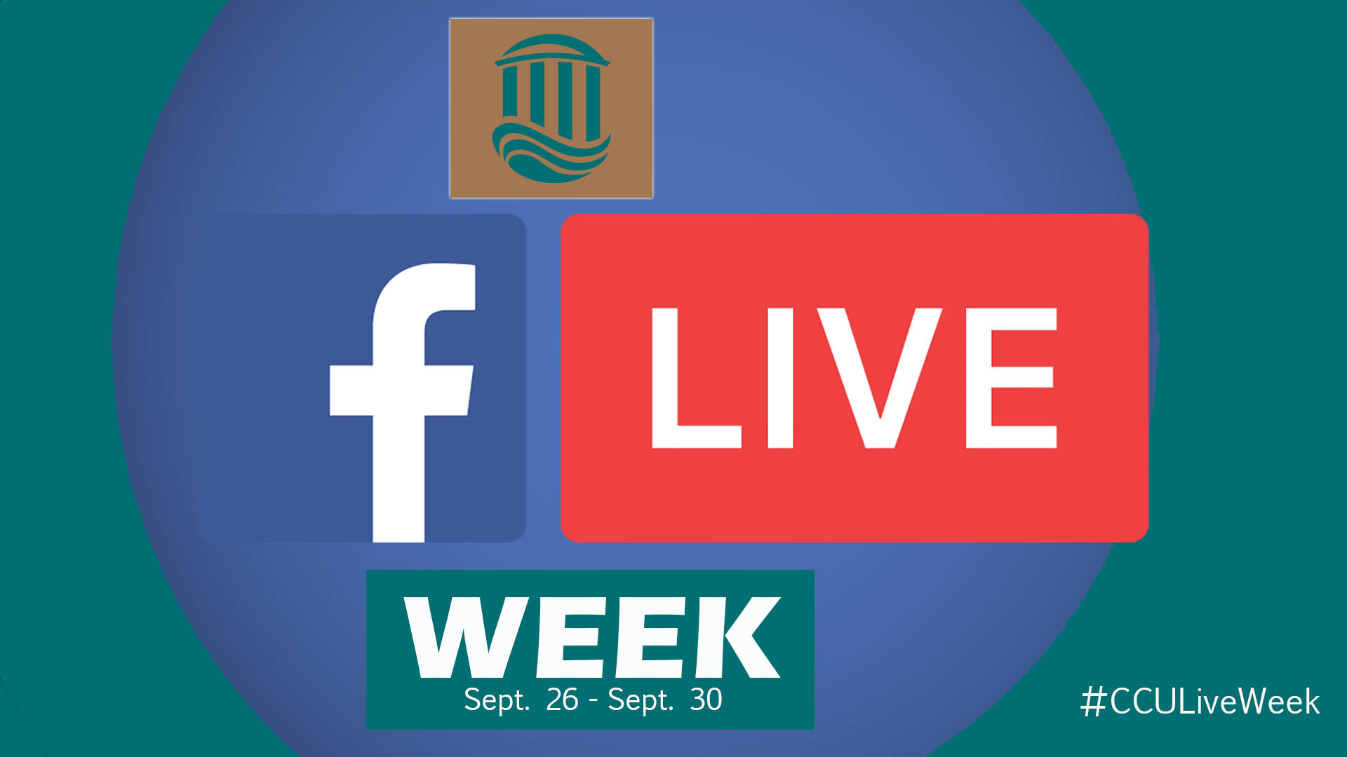 This week is our #CCU Facebook Live Week.