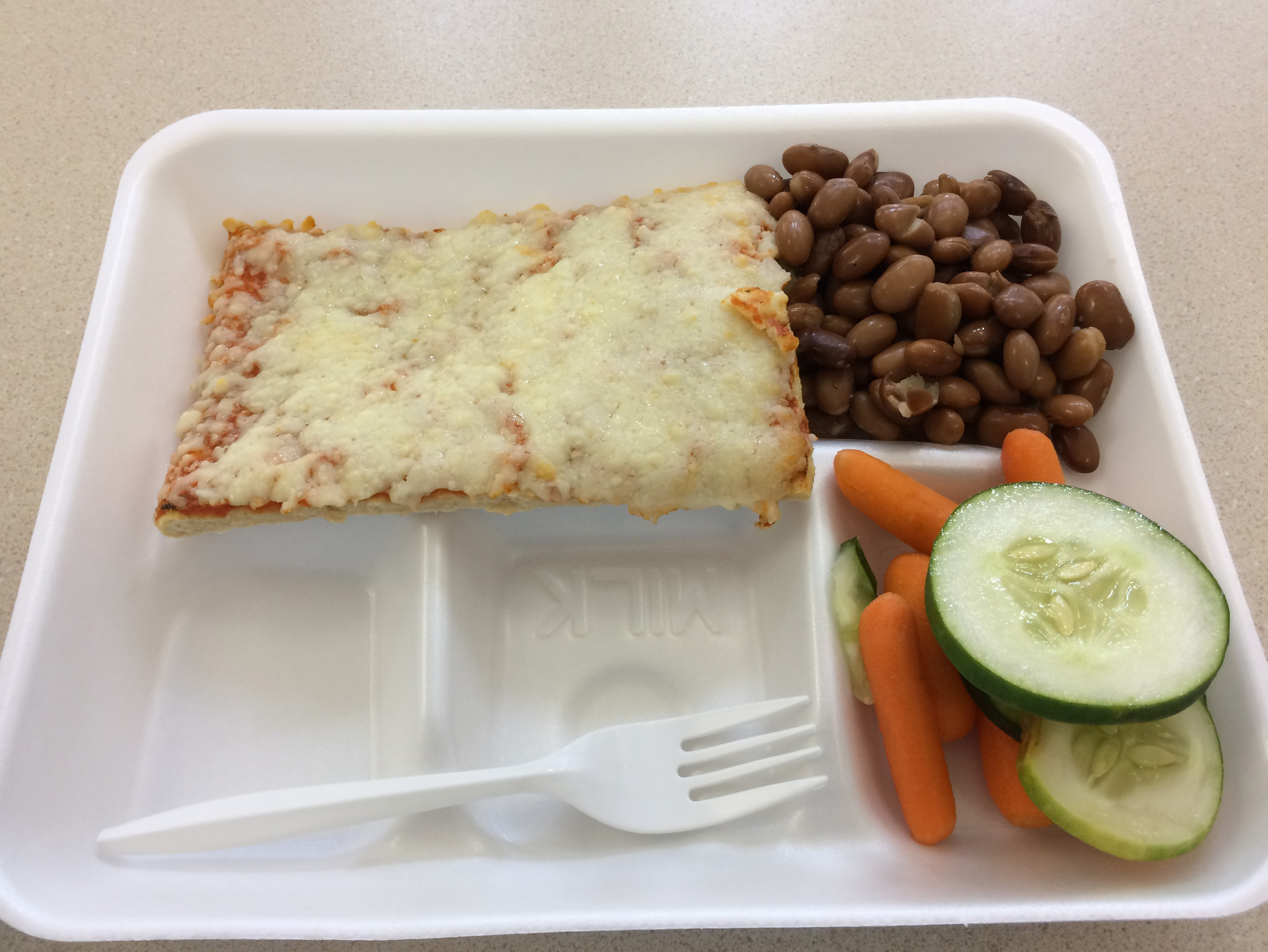 This was my lunch at Sidney's school.