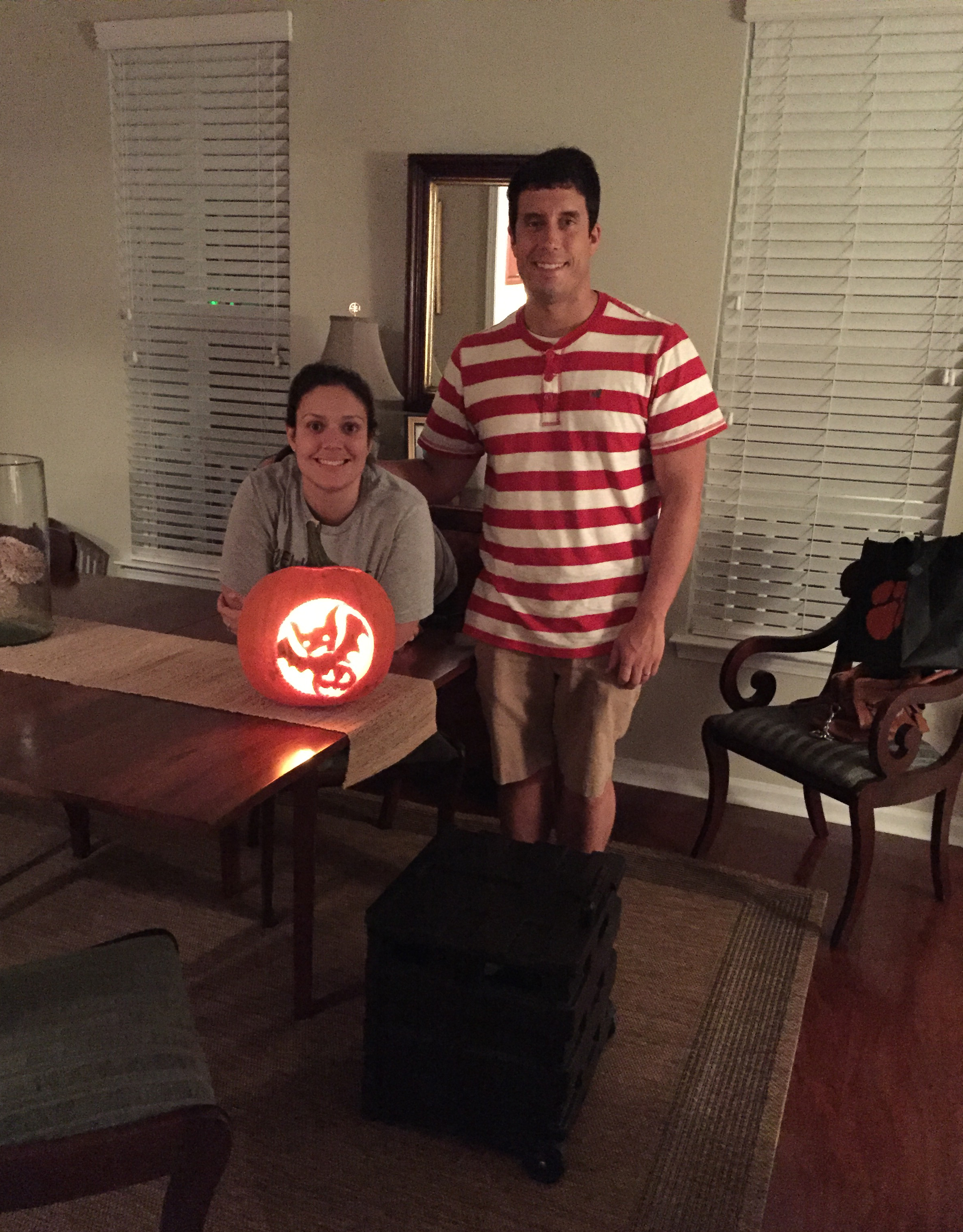 Carving pumpkins has never been one of my favorite activities. However, last night Sidney and I carved one. Read on to hear about my experience.