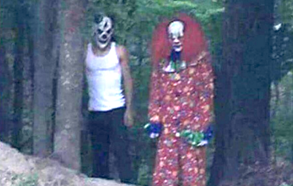 Creepy clowns like these are popping up all around the country.