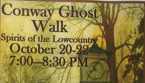 On Friday night, we attended the Conway Ghost Walk.