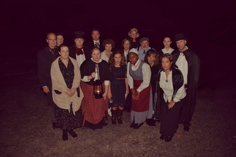 A look at what the storytellers look like (photo courtesy of the Conway Downtown Live Facebook page).