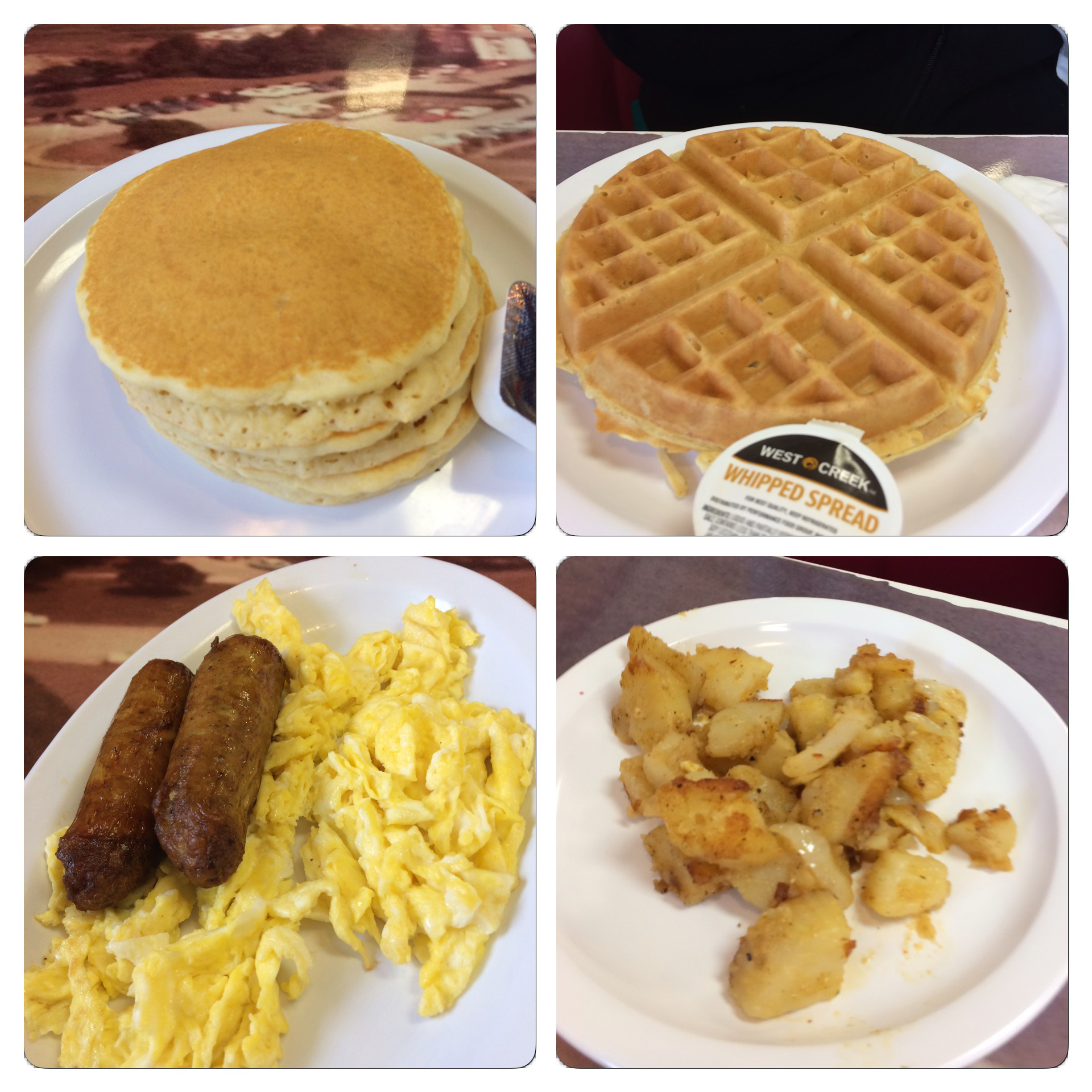 A close up look at our food that we enjoyed at the Southern House of Pancakes in Myrtle Beach.
