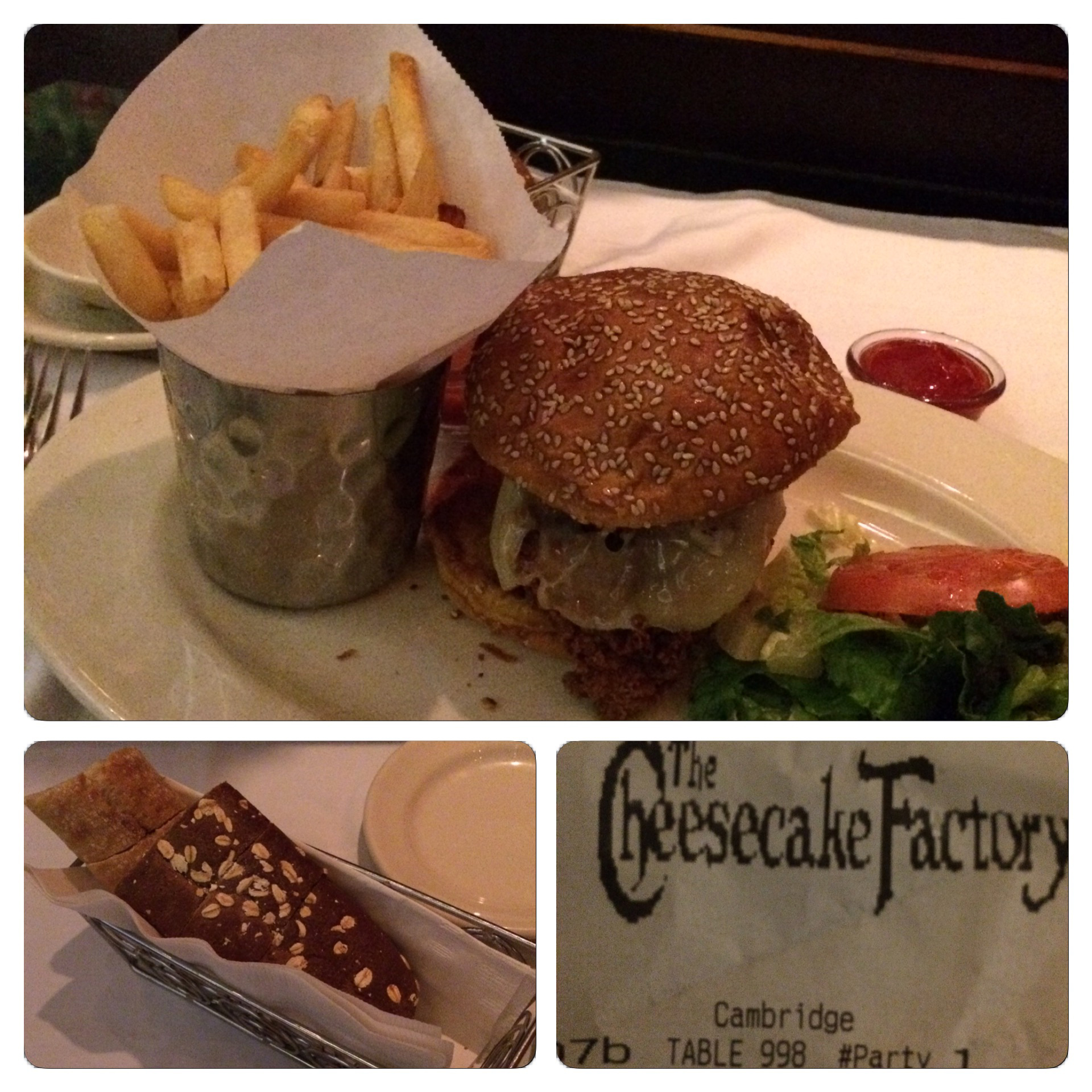Earlier this month I ate at the Cheesecake Factory in Boston (it was my second time in my lifetime eating at that location). I ordered the spicy chicken sandwich.