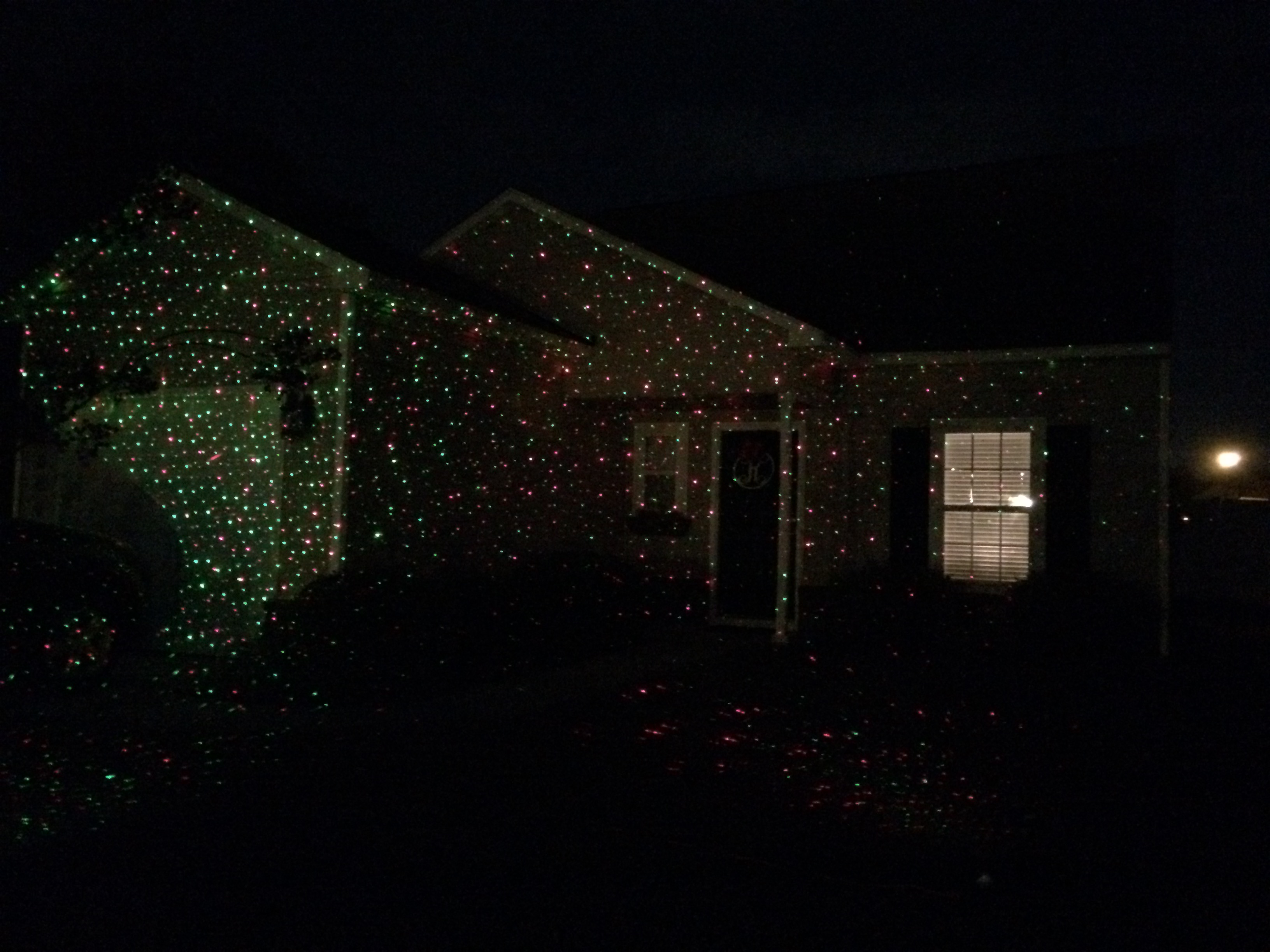 I think our house looks pretty good with the laser lights. Thanks David and Robin!