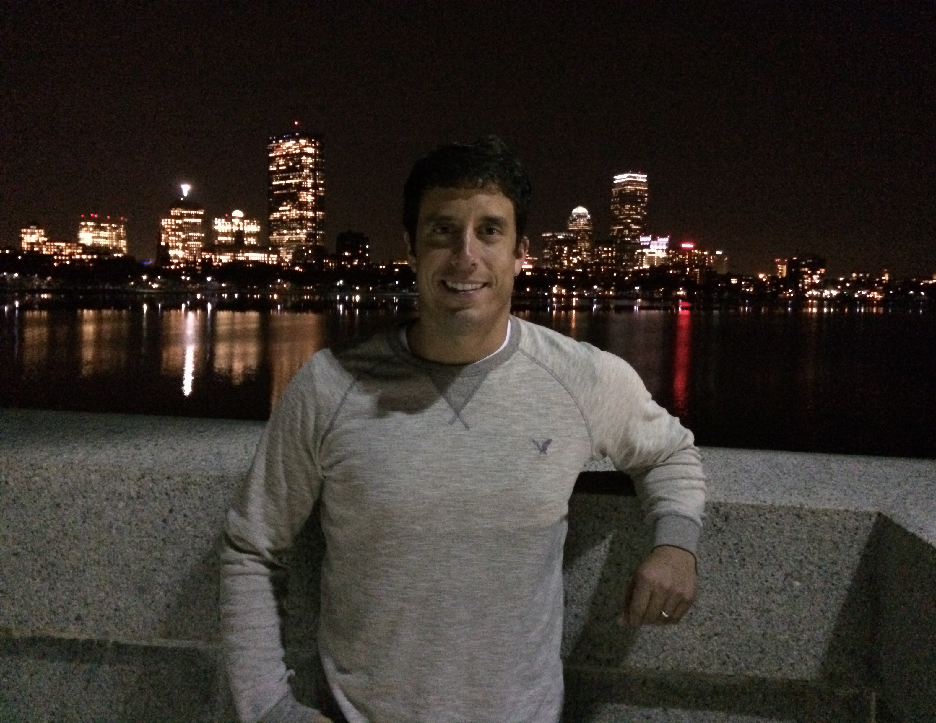 I had a great time exploring Boston last night. This is me on the Longfellow bridge with the city skyline behind me.