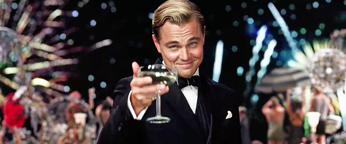 "This is the infamous Leonardo DiCaprio meme. I had no idea it was from ""The Great Gatsby"" until last night."