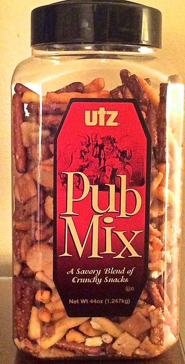 I love the salty and very flavorful Pub Mix from Costco.