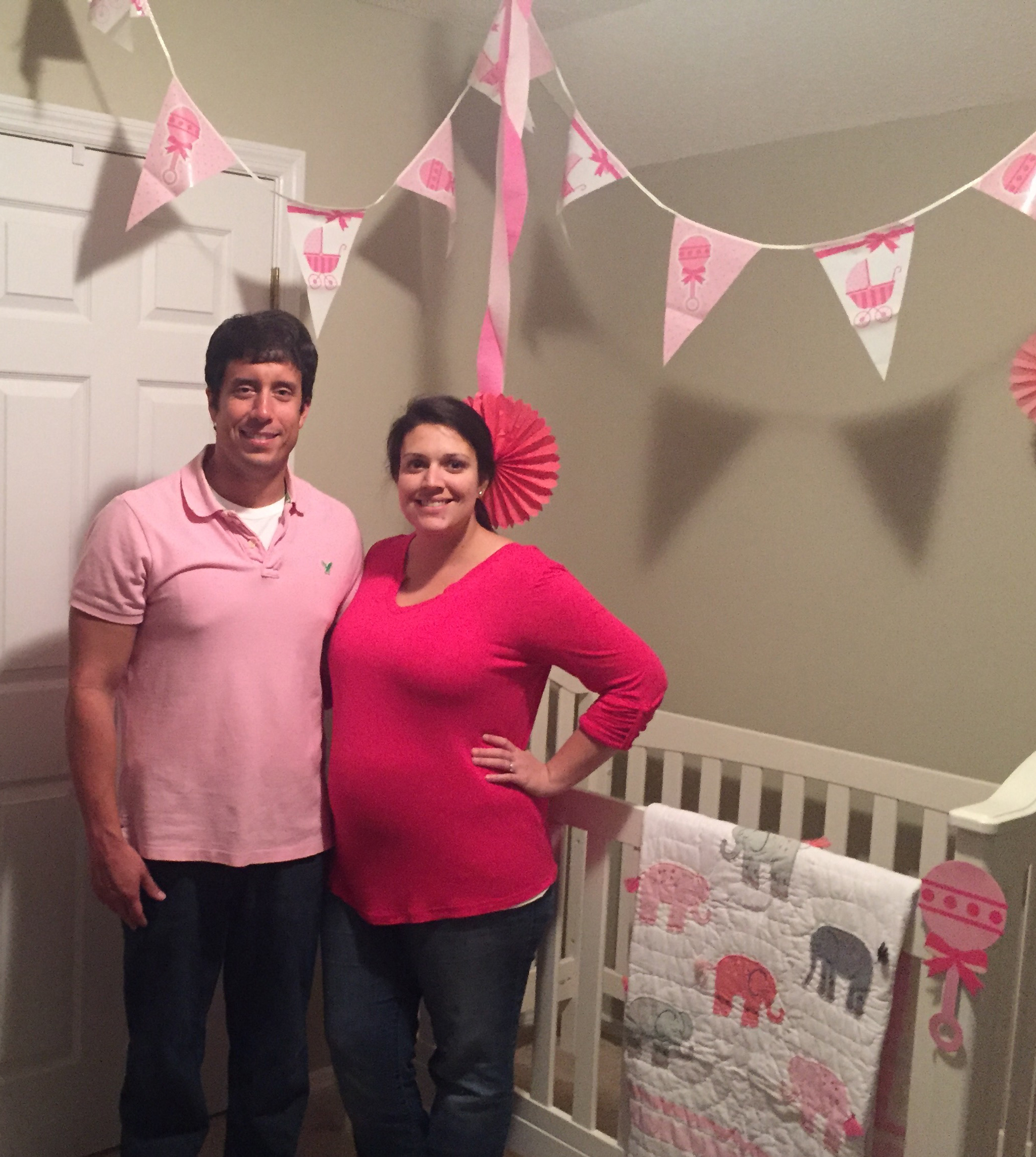 Sidney and I are thrilled to be having a baby girl.