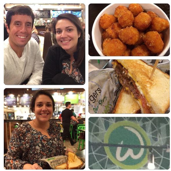 Sidney and I ate at Wahlburgers in Myrtle Beach on Monday night.