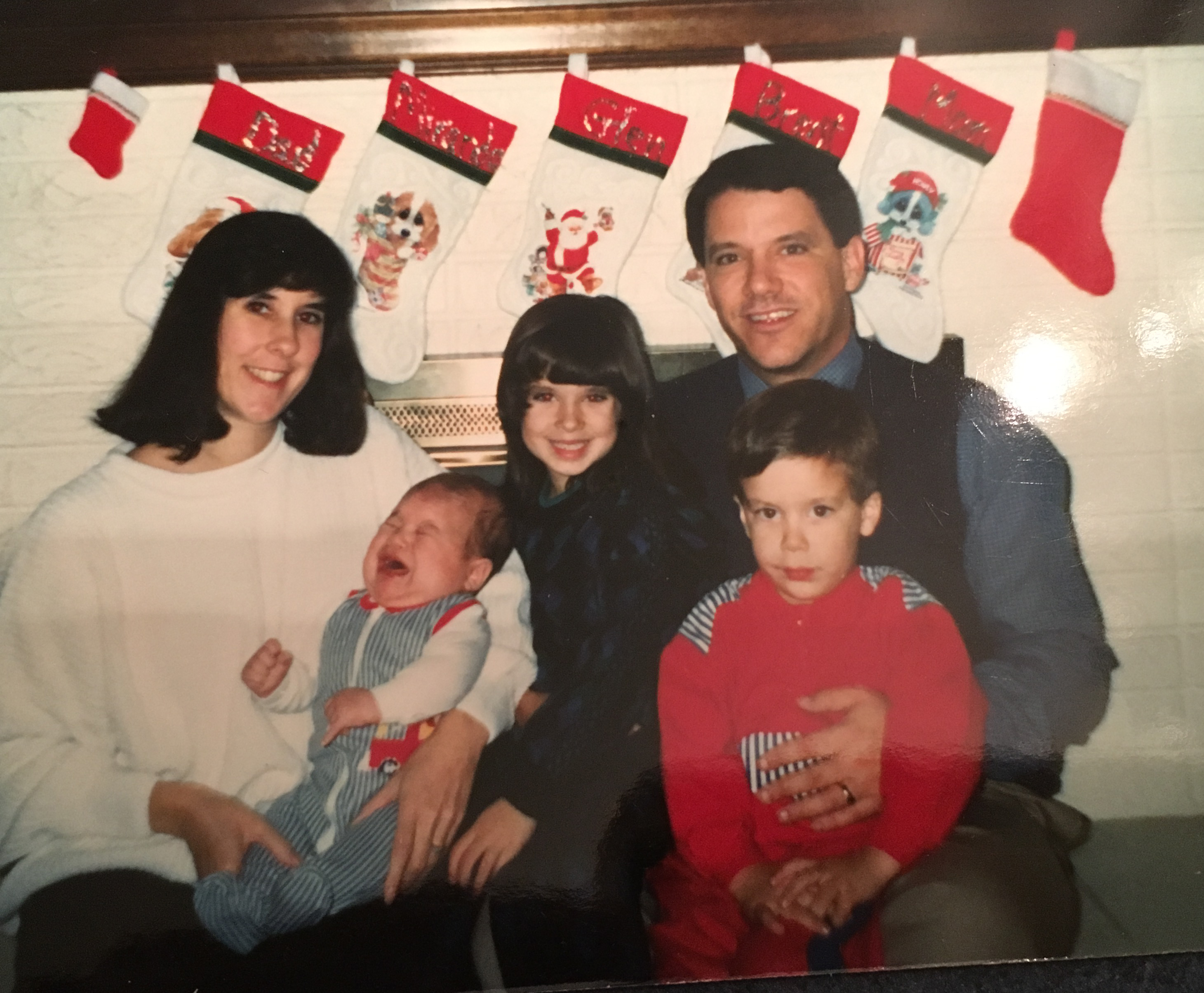 Here is one of our earlier Christmas photos. This is from 1990.