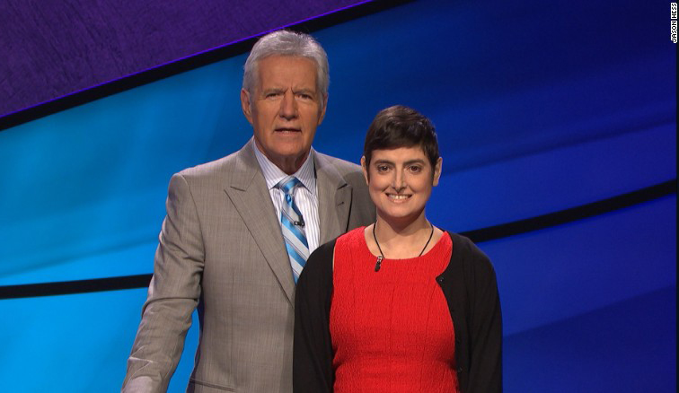 Alex Trebek and Cindy Stowell pose for this photo (photo courtesy of Jason Hess).