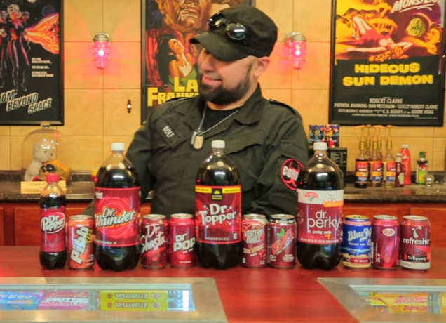 Take a look at the lineup  this dude has of Dr. Pepper knockoffs.