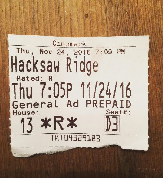 Hacksaw Ridge is an excellent movie and you should see it.