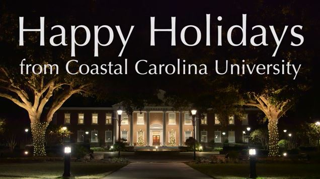 The #CCU holiday video is outstanding. (This is a screenshot from the video).