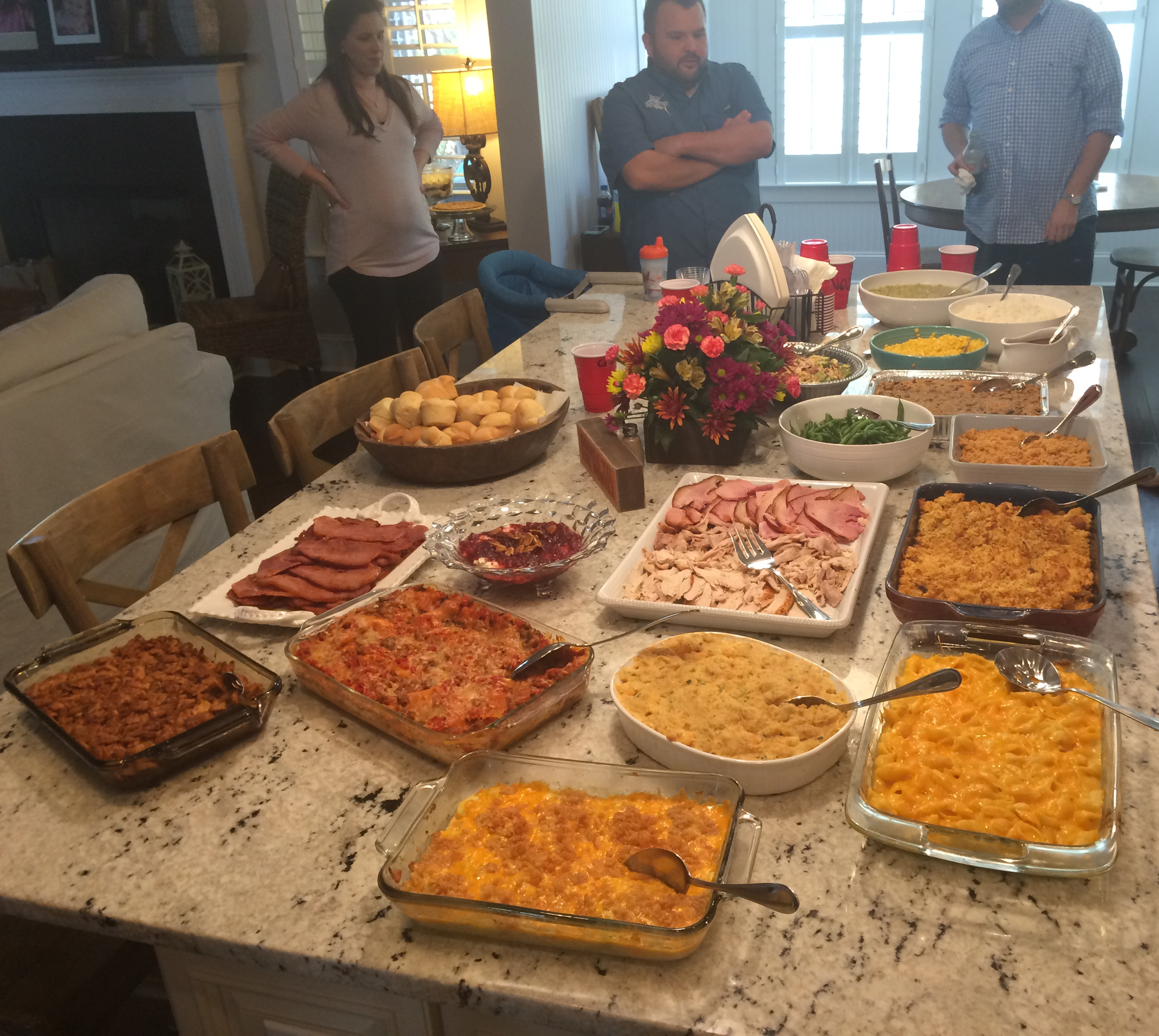 A look at our large Thanksgiving spread.