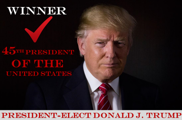 It is now official. Donald Trump will serve as our 45th President of the United States.