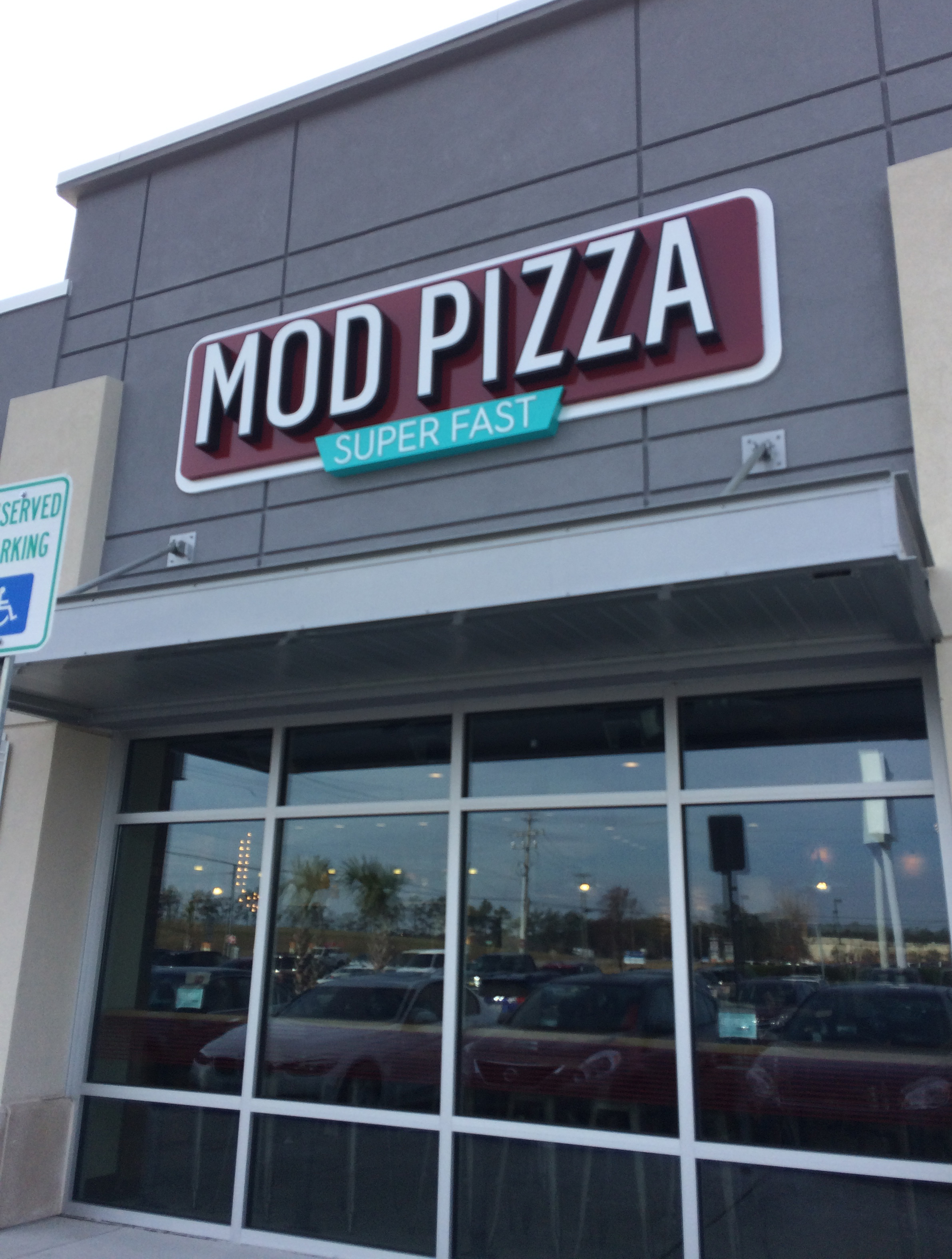 This was the MOD Pizza that Sidney and I visited in Myrtle Beach yesterday.