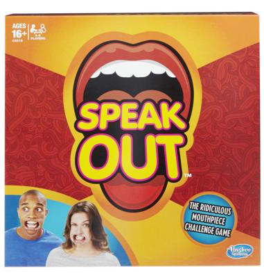 During the holidays, we played Speak Out.